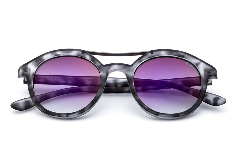 Grey Tortoise-Shell - Violet Flashed Lens