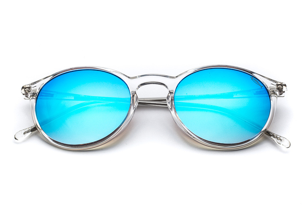 Crystal - Blue Flashed Lens