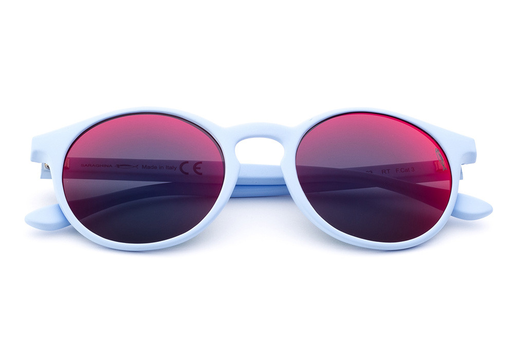 Light Blue - Red/Blue Mirrored Lens