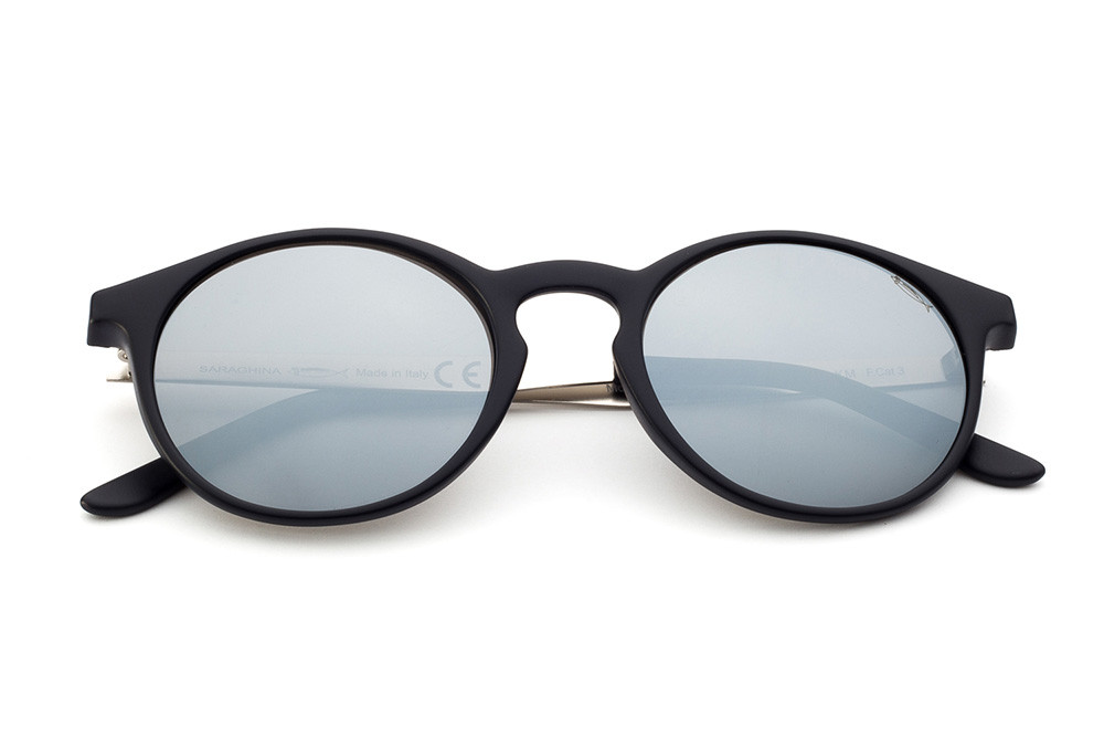 Black/Blue - Silver Mirrored Lens