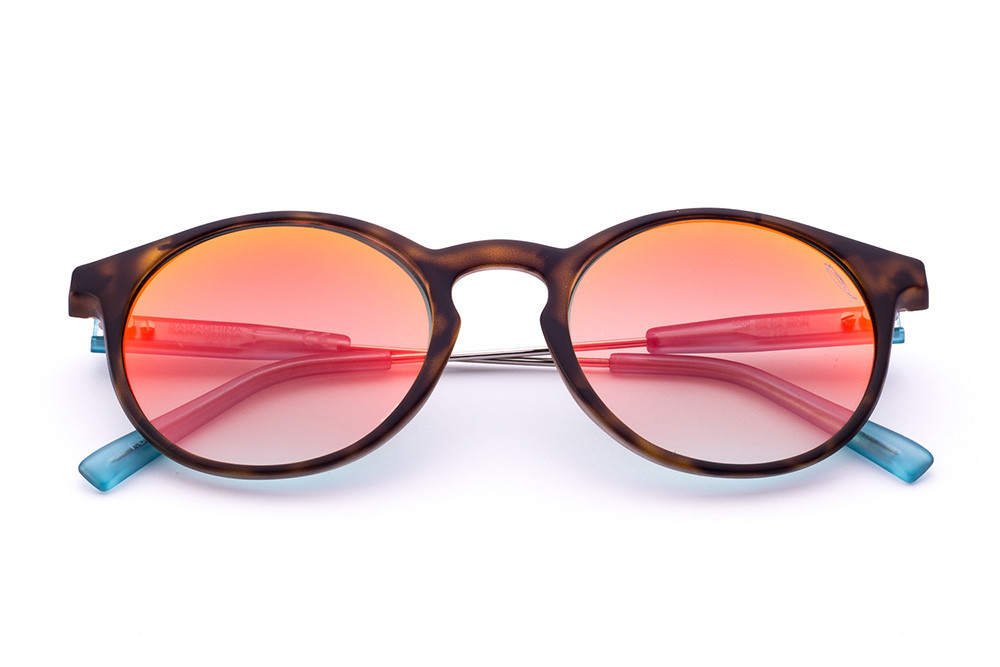 Tortoise Shell - Red/Orange Flashed Lens
