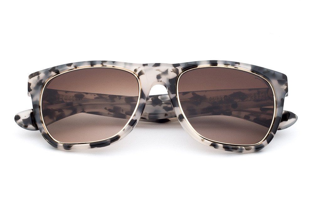 Grey Tortoise Shell - Shaded Brown Lens