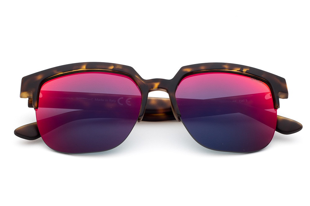 Tortoise Shell - Blue/Red Mirrored Lens