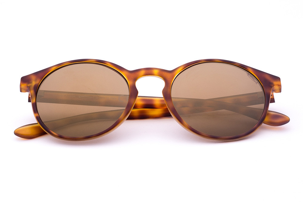 Tortoise Shell - Golden Mirrored Lens