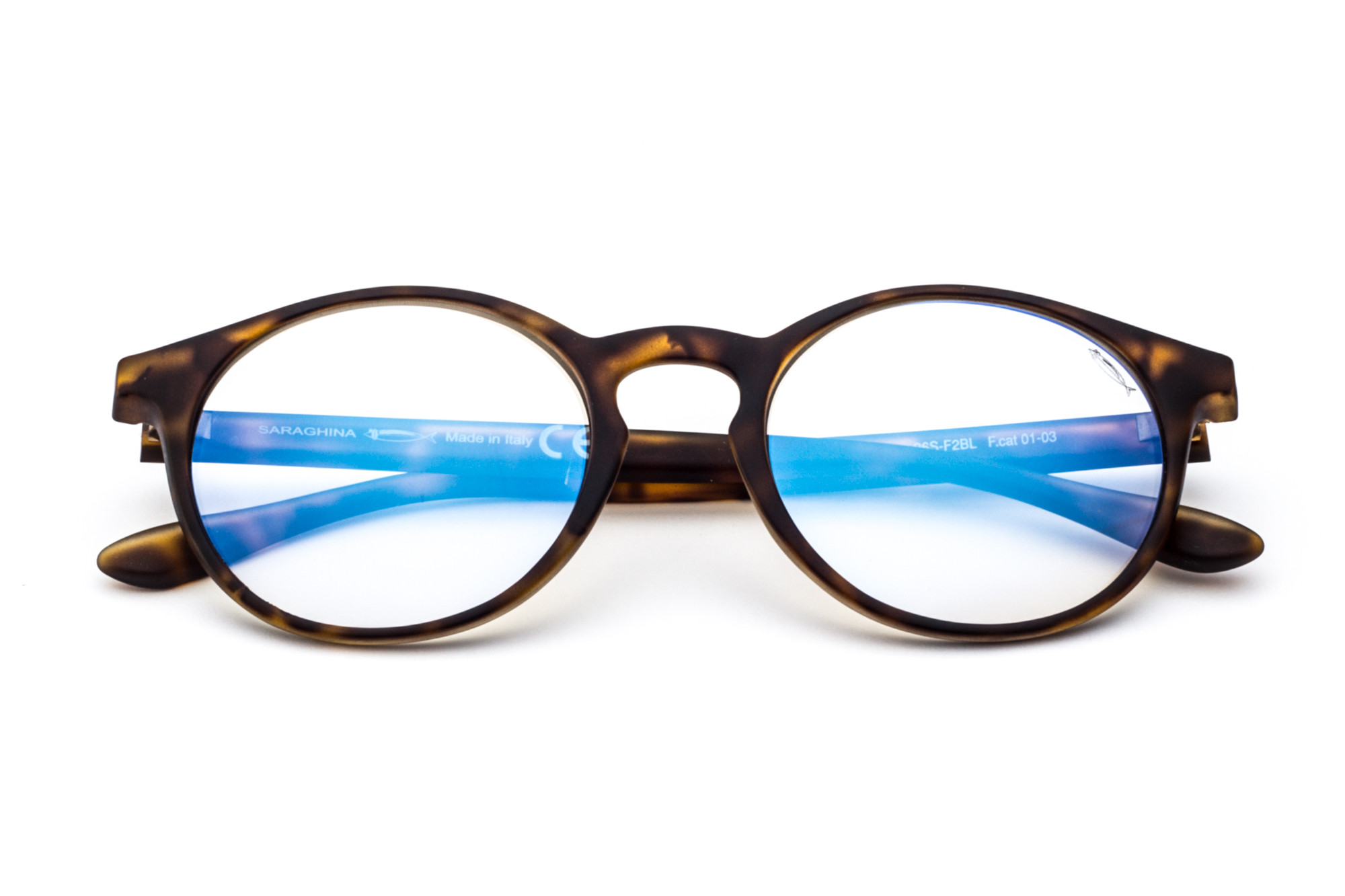 Tortoise Shell - Photochromic Flashed Blue Lens
