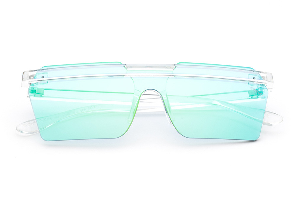 """Crystal - Blue Mask With """"bubble Soap"""" Green Flashed Mirroring"""