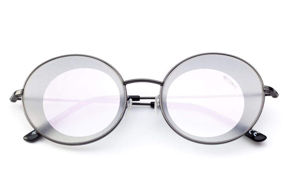 Black - Pink Mirrored Lens