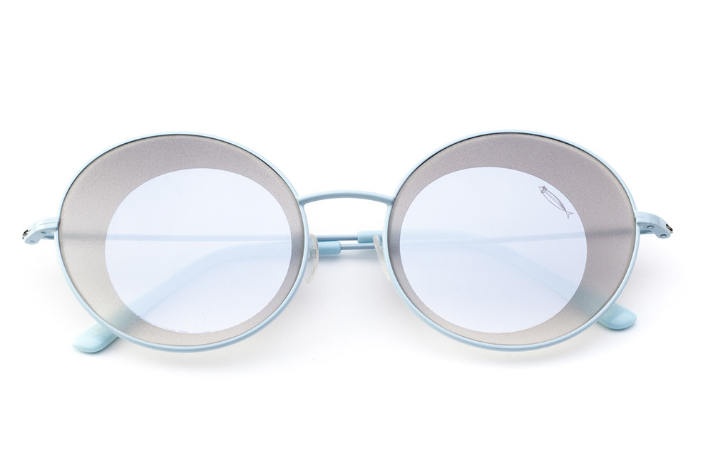 Light Blue - Silver Flashed Lens