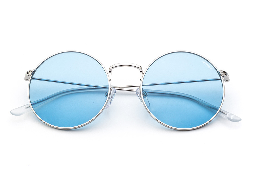 Silver - Light Blue Lens