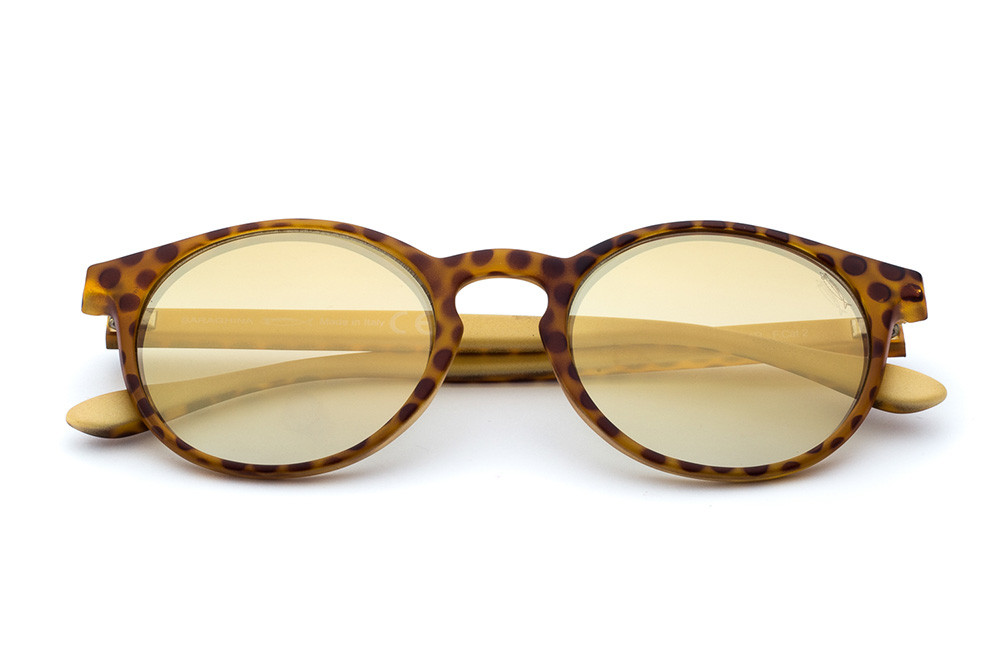 Animal Print/Cream - Golden Flashed Lens