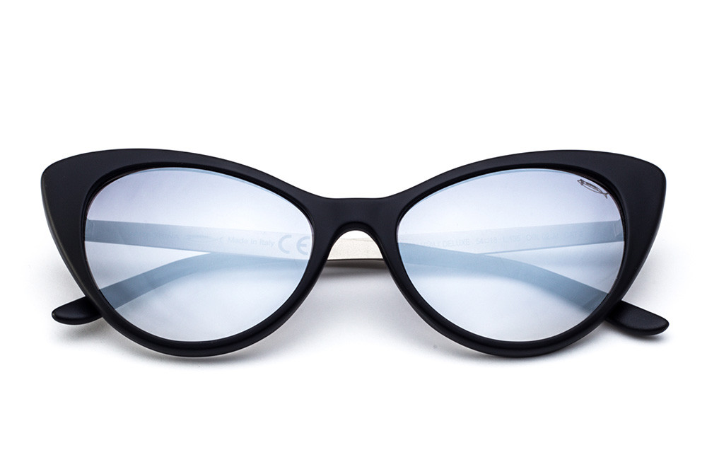 Black/Blue - Grey/Turquoise Flashed Lens