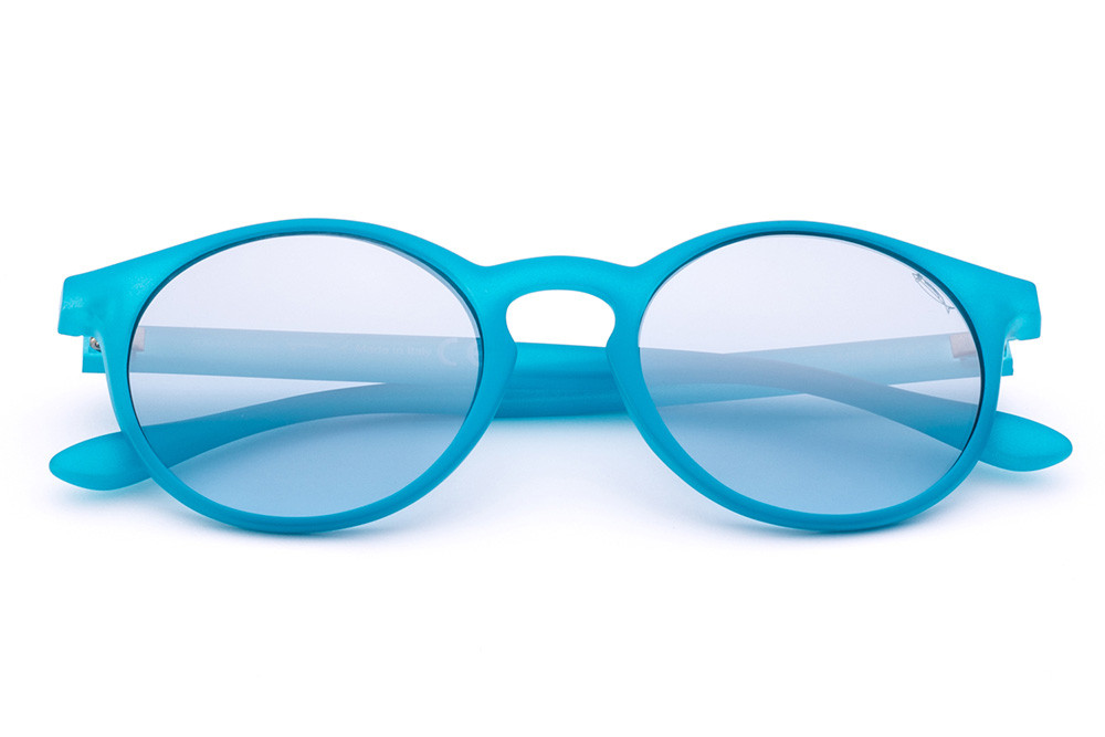 Teal - Grey/Light Blue Flashed Lens